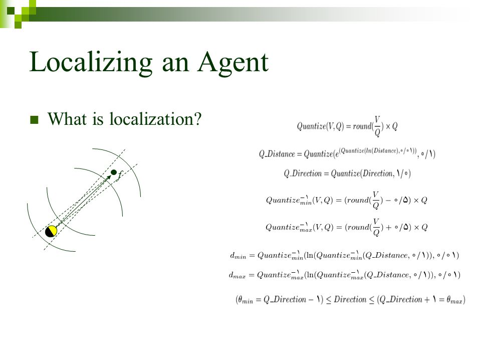 Localizing an Agent What is localization f