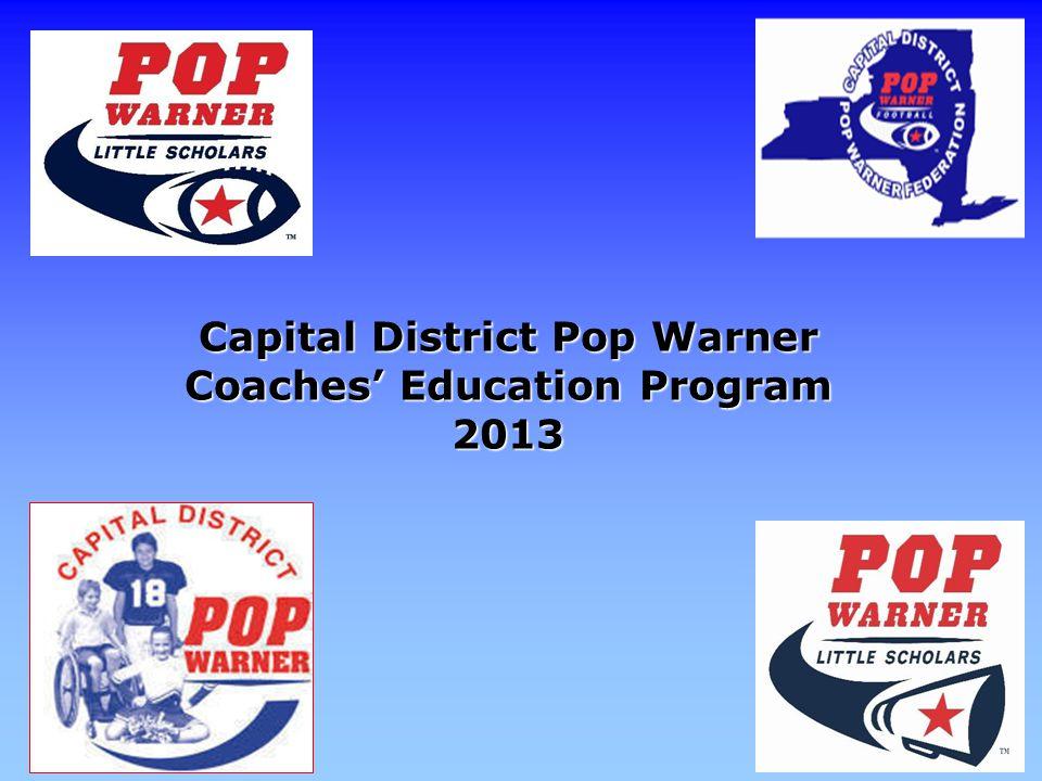 Capital District Pop Warner Coaches' Education Program 2013