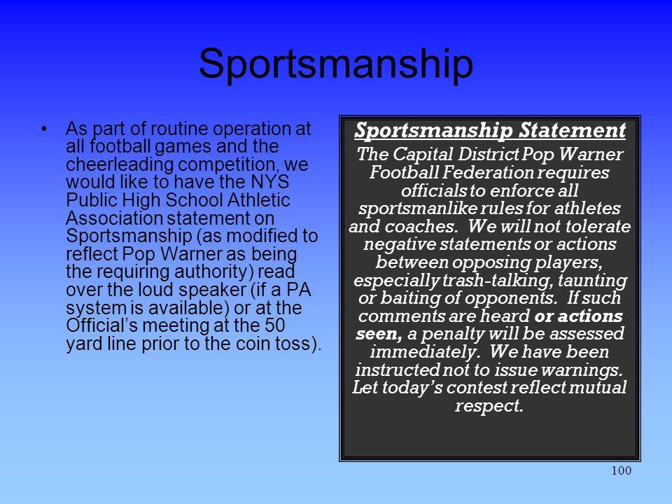 Sportsmanship Statement
