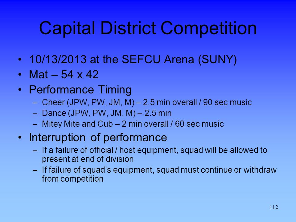 Capital District Competition