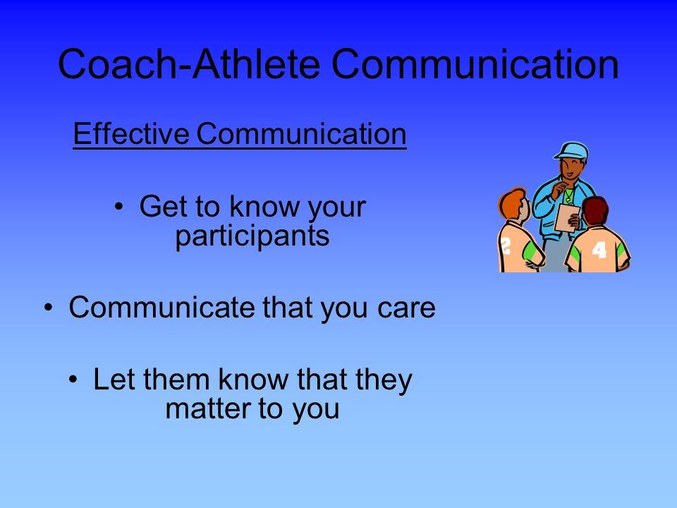 Coach-Athlete Communication