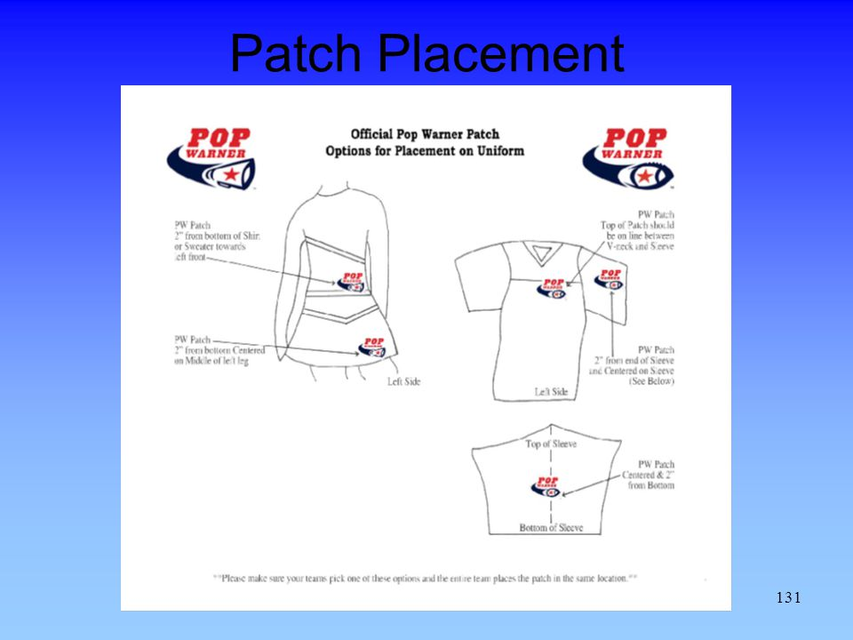 Patch Placement 131