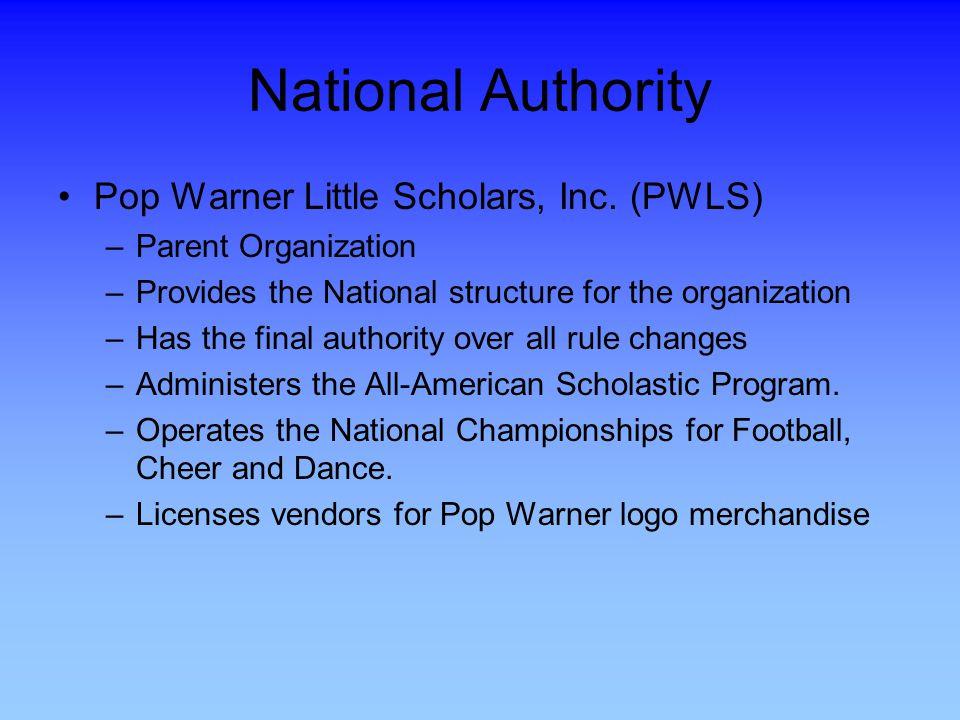National Authority Pop Warner Little Scholars, Inc. (PWLS)