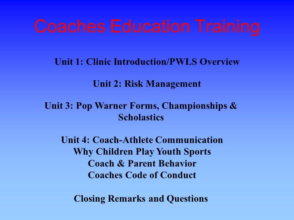 Coaches Education Training