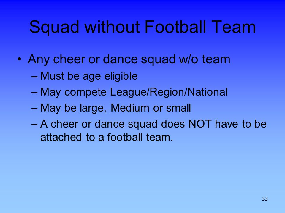Squad without Football Team