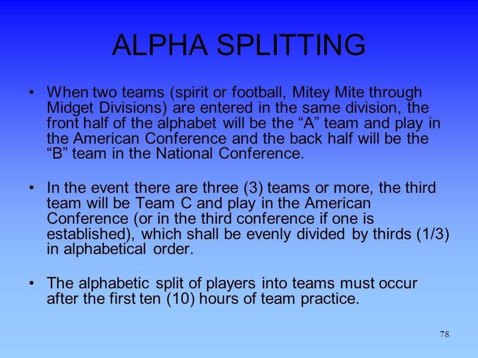 ALPHA SPLITTING