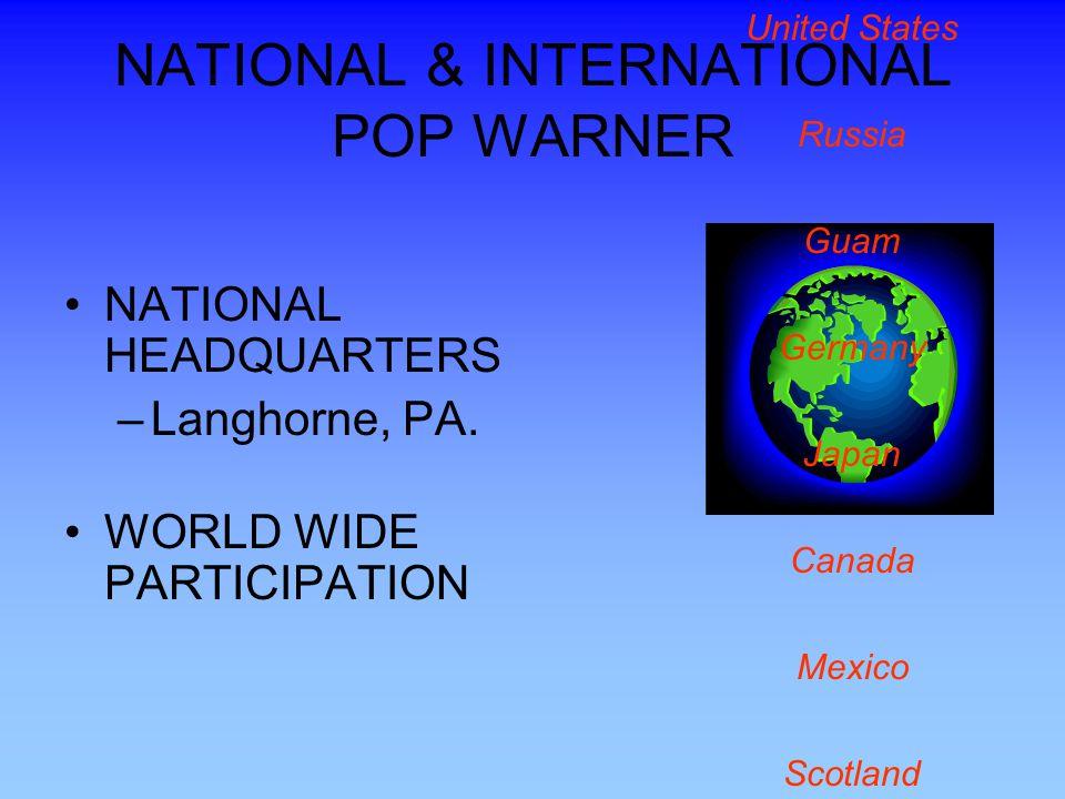 NATIONAL & INTERNATIONAL POP WARNER