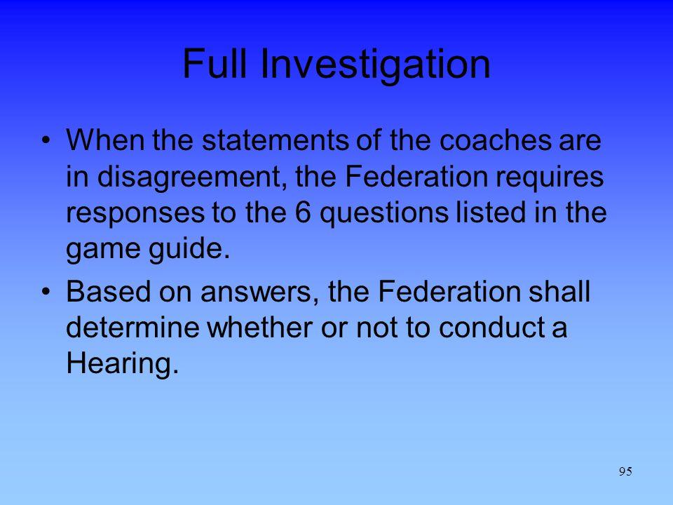 Full Investigation