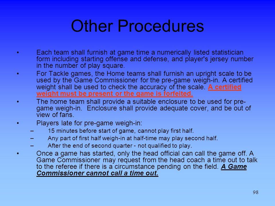 Other Procedures