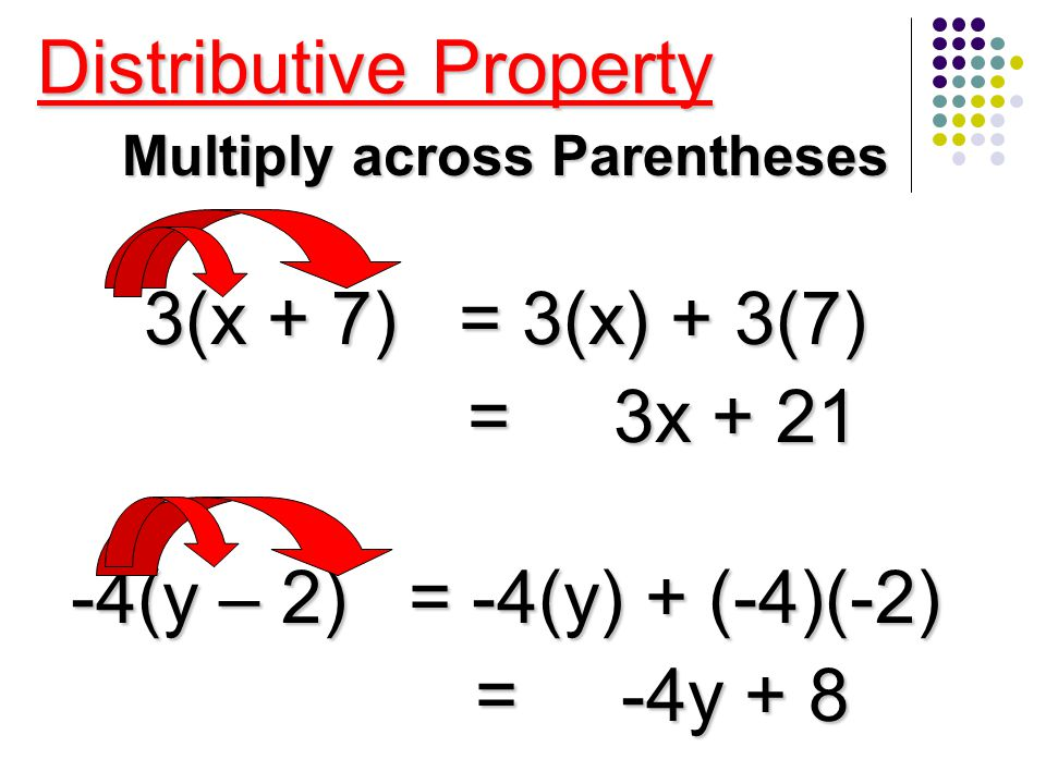 Multiply across Parentheses
