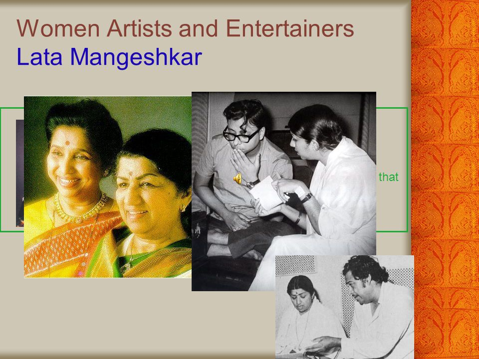 Women Artists and Entertainers Lata Mangeshkar
