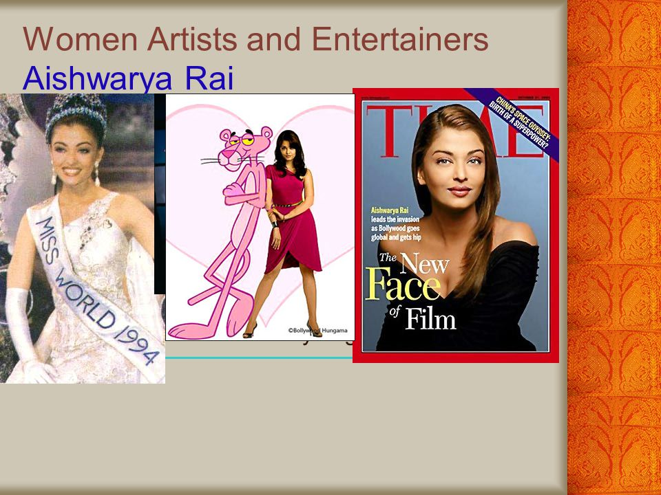 Women Artists and Entertainers Aishwarya Rai