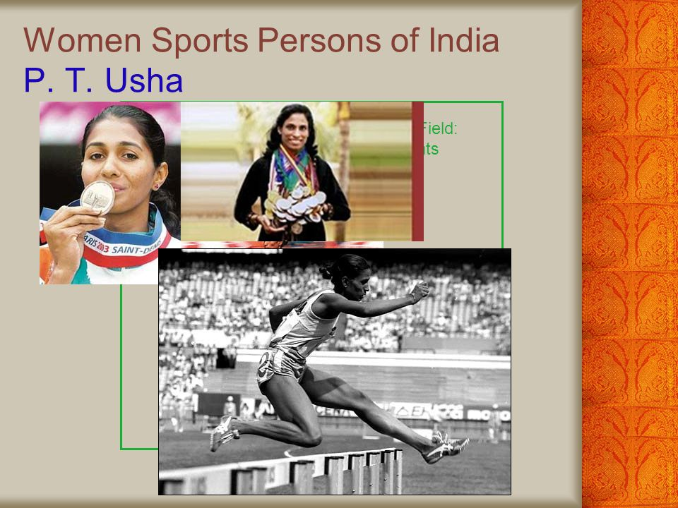Women Sports Persons of India P. T. Usha