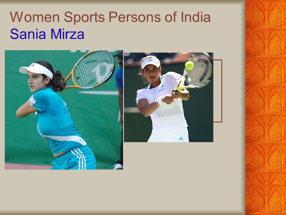 Women Sports Persons of India Sania Mirza
