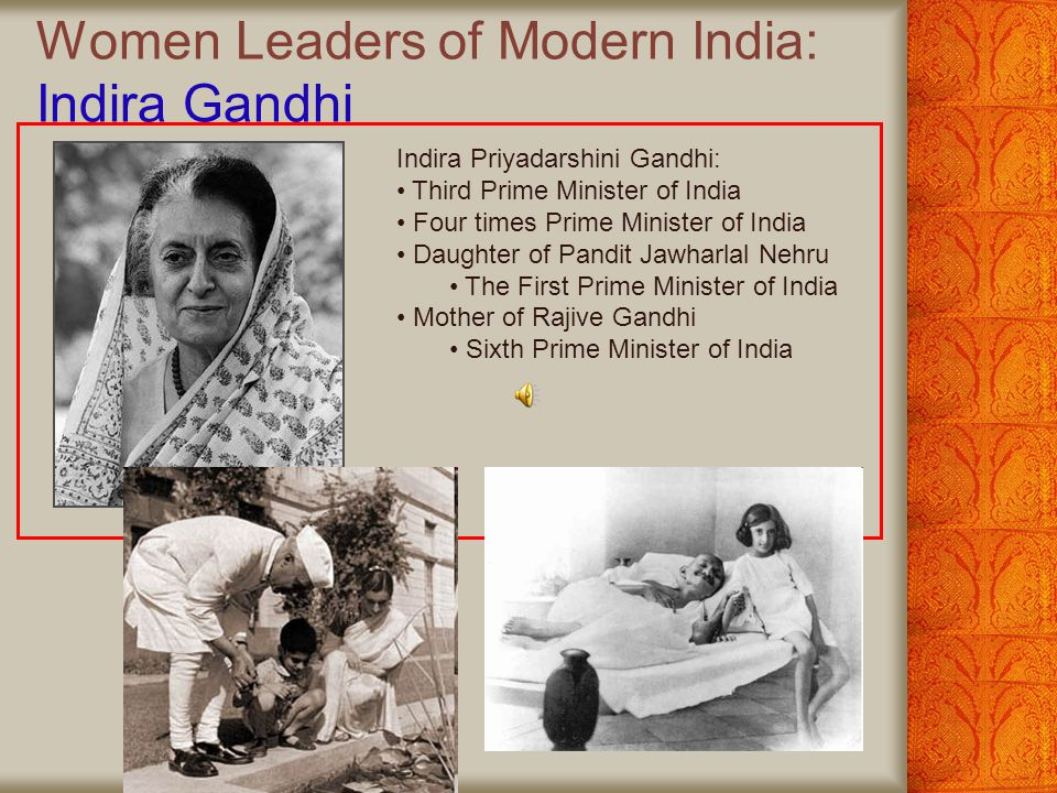 Women Leaders of Modern India: Indira Gandhi