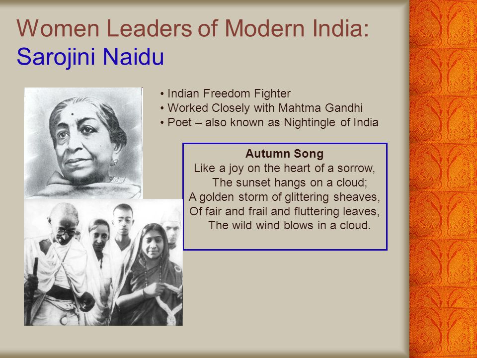 Women Leaders of Modern India: Sarojini Naidu
