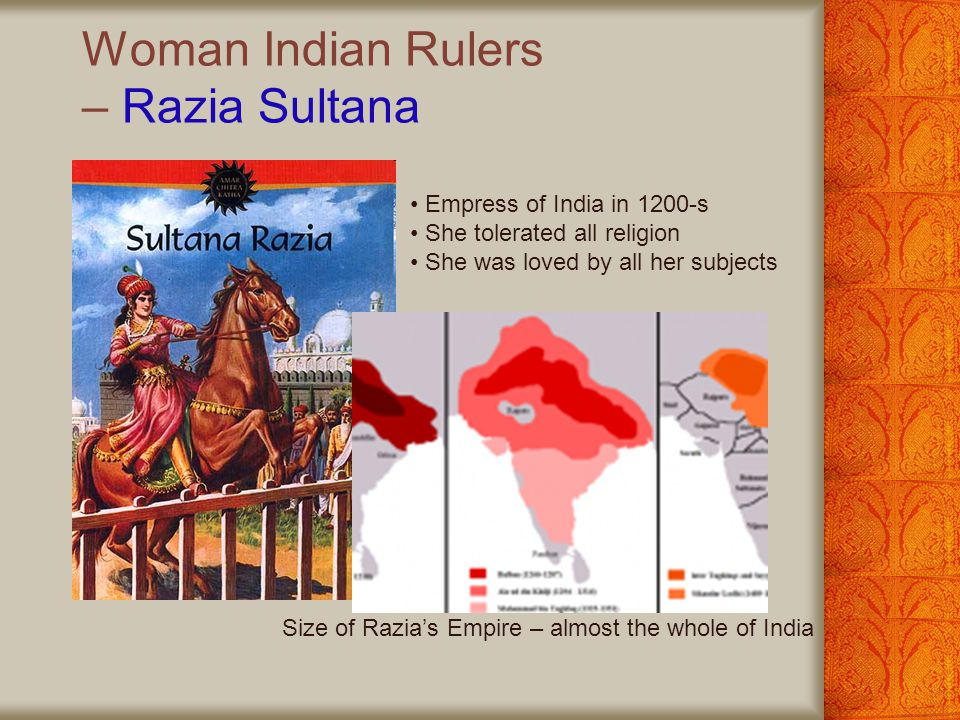 Woman Indian Rulers – Razia Sultana