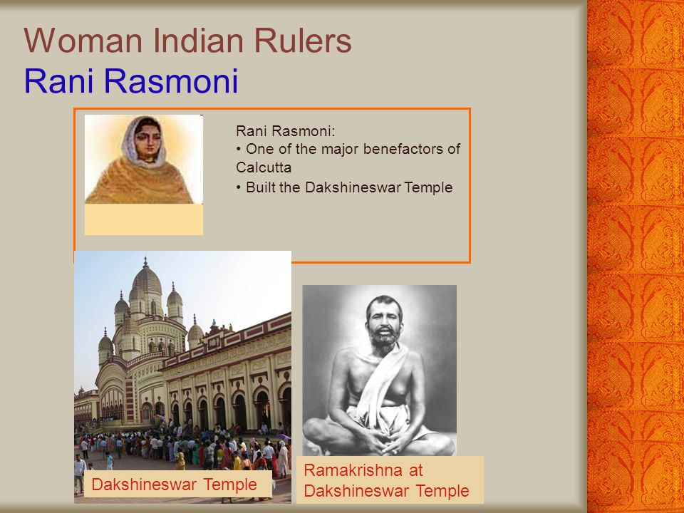 Woman Indian Rulers Rani Rasmoni