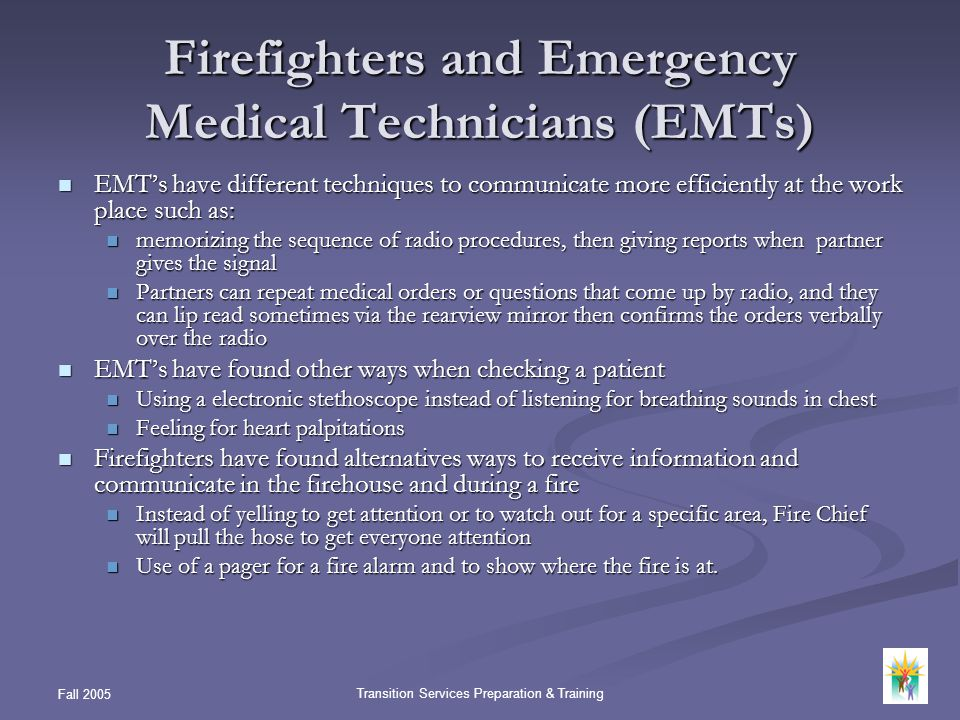 Firefighters and Emergency Medical Technicians (EMTs)