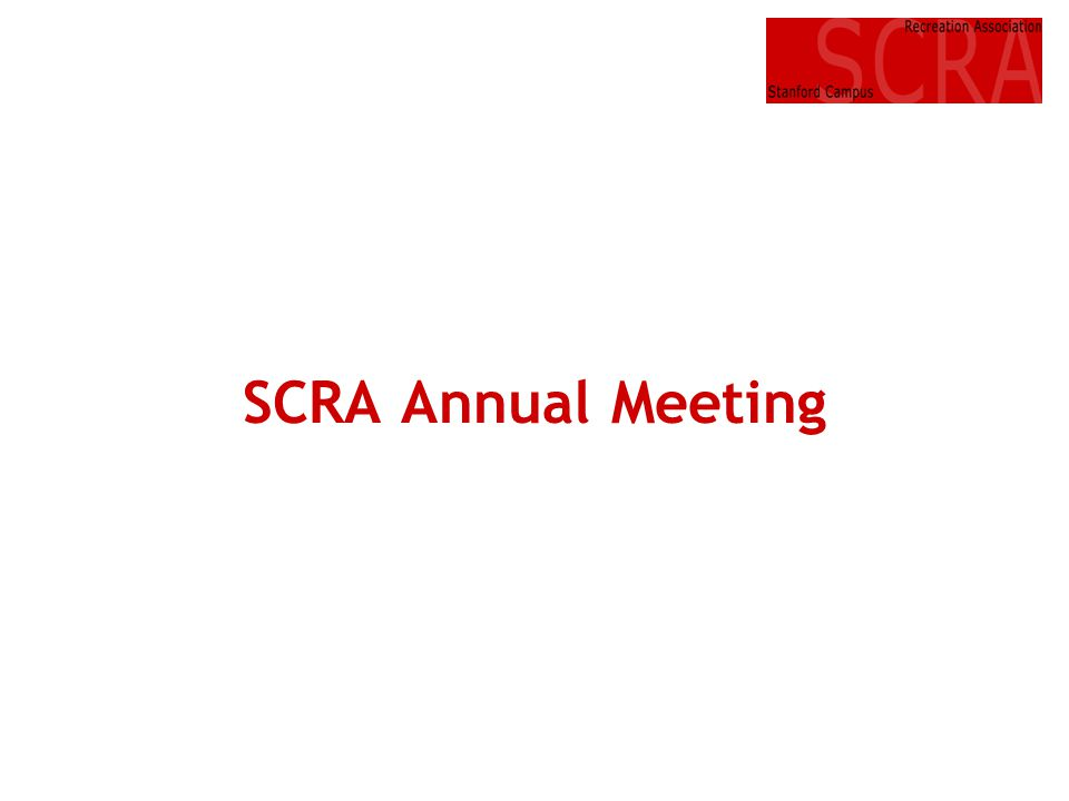 SCRA Annual Meeting