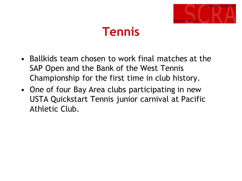 Tennis • Ballkids team chosen to work final matches at the SAP Open and the Bank of the West Tennis Championship for the first time in club history.