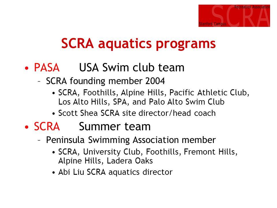 SCRA aquatics programs