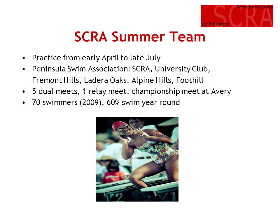 SCRA Summer Team Practice from early April to late July
