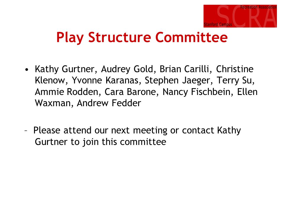 Play Structure Committee