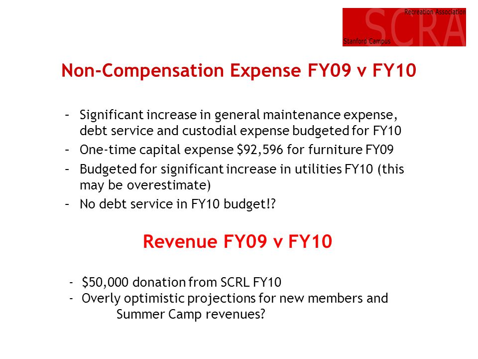 Non-Compensation Expense FY09 v FY10