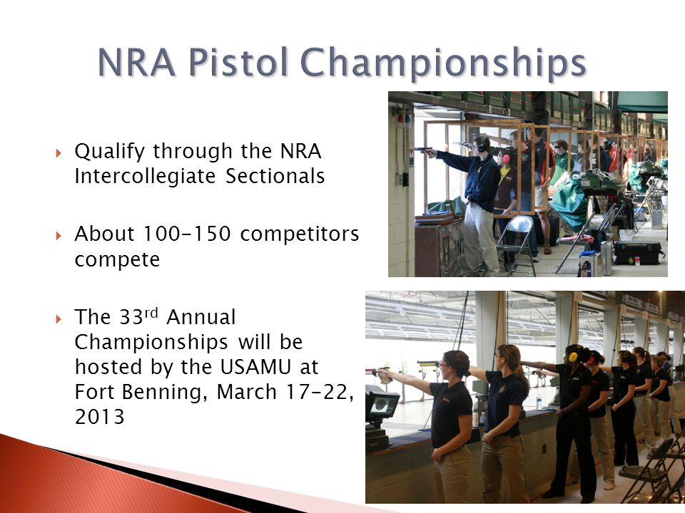 NRA Pistol Championships