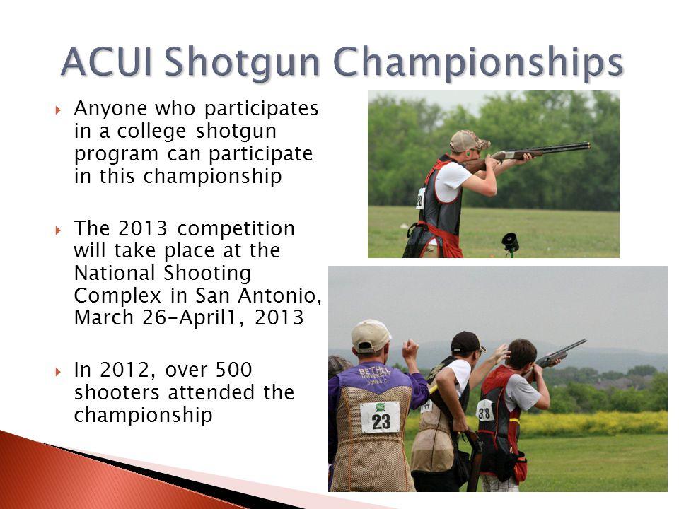 ACUI Shotgun Championships