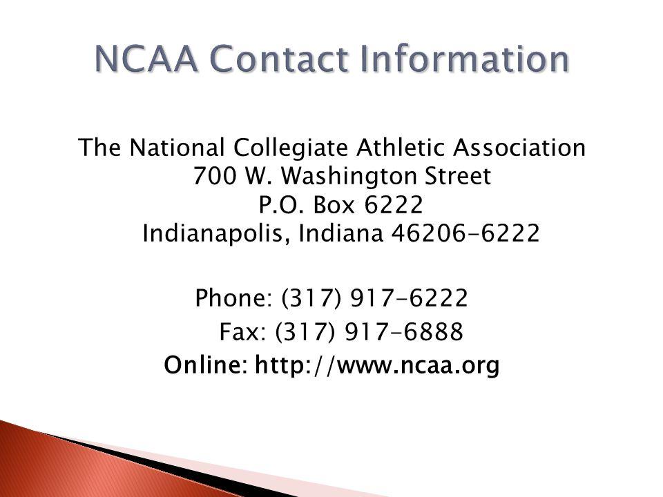 Online: http://www.ncaa.org