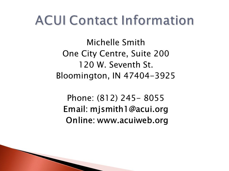 ACUI Contact Information