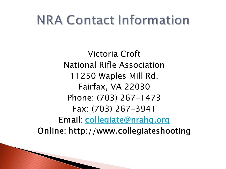NRA Contact Information