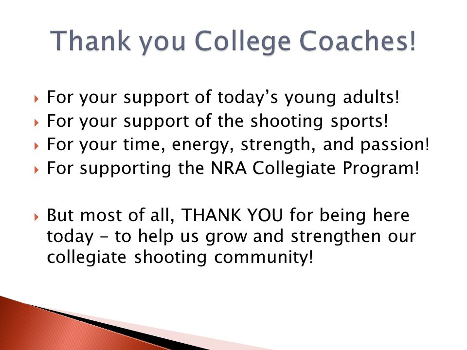 Thank you College Coaches!