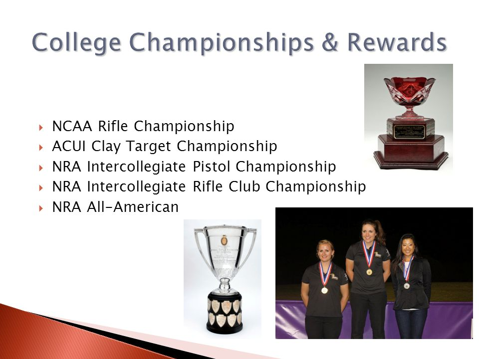 College Championships & Rewards