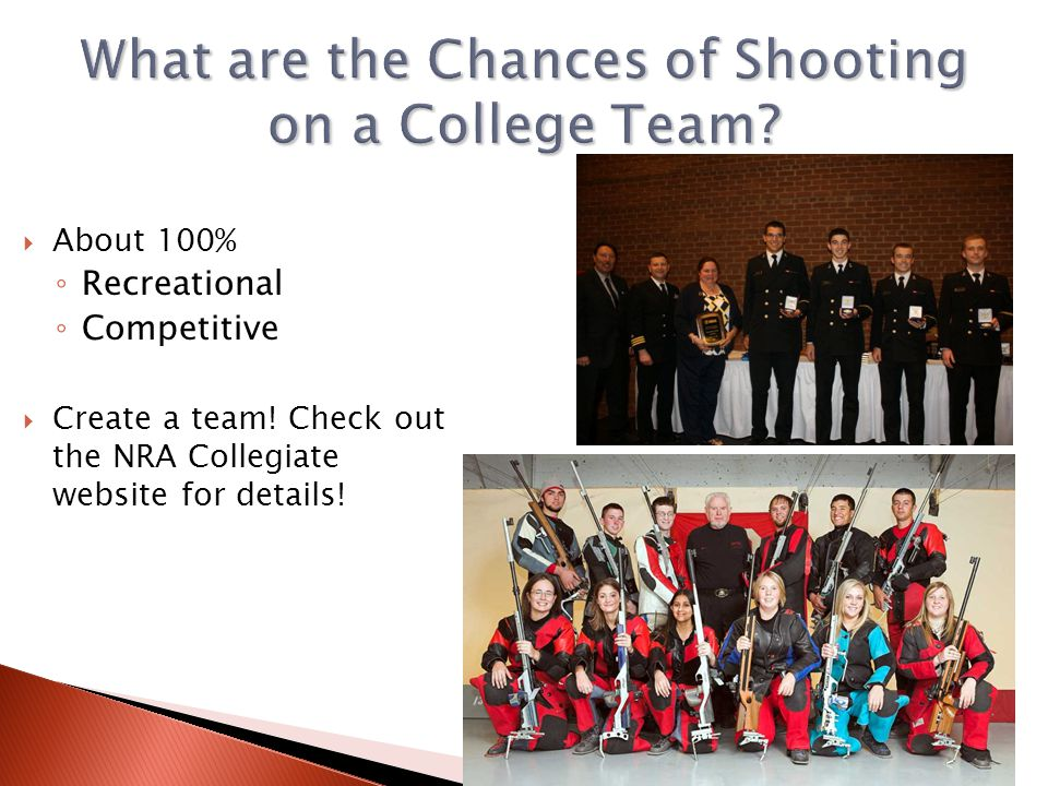 What are the Chances of Shooting on a College Team
