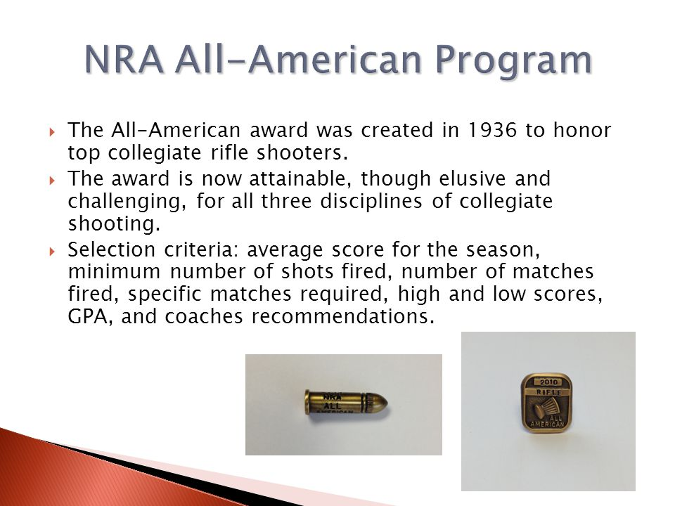 NRA All-American Program