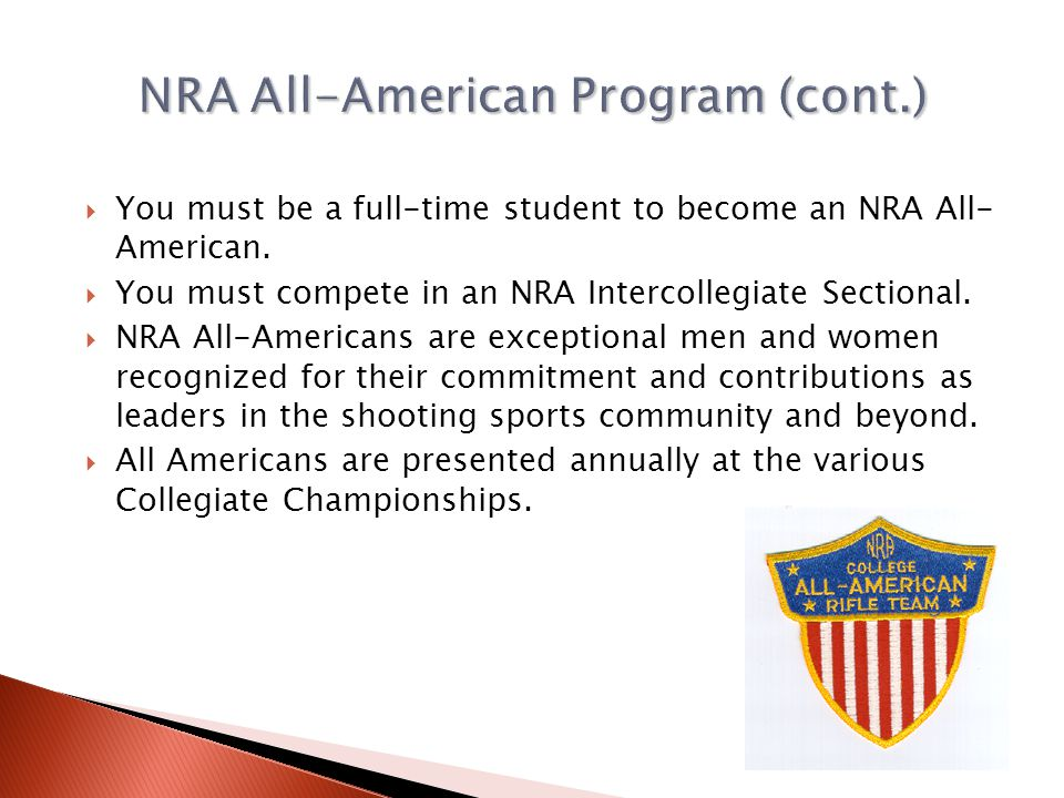NRA All-American Program (cont.)