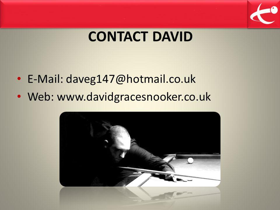 CONTACT DAVID E-Mail: daveg147@hotmail.co.uk