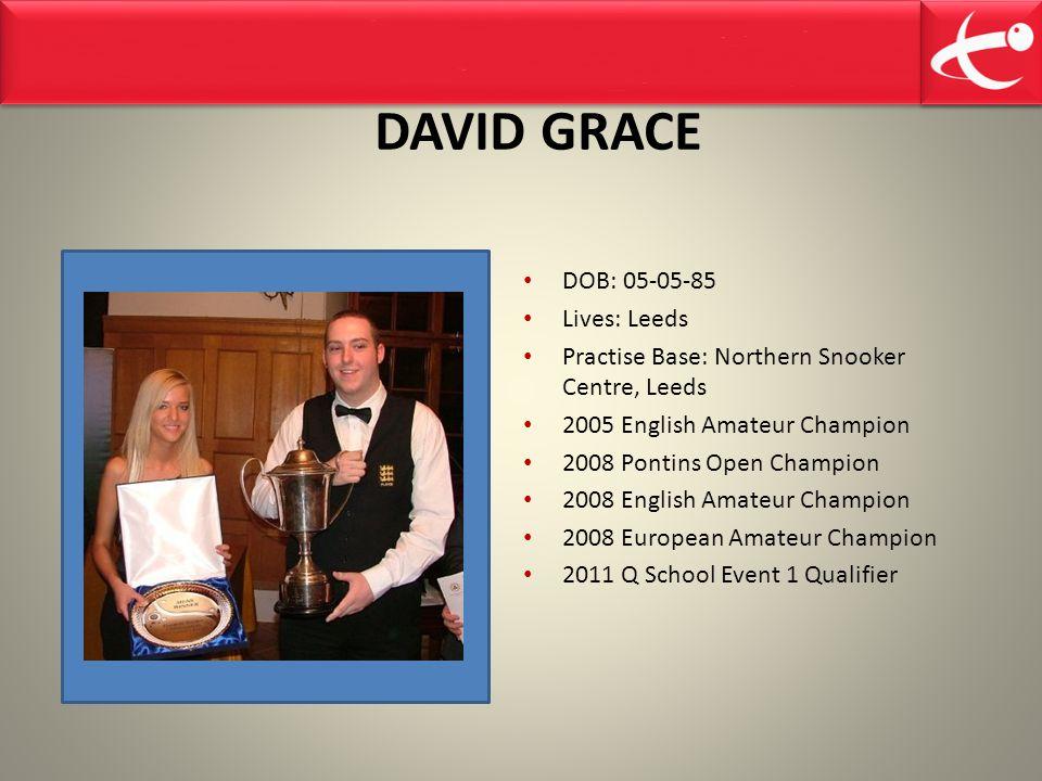 DAVID GRACE DOB: 05-05-85 Lives: Leeds