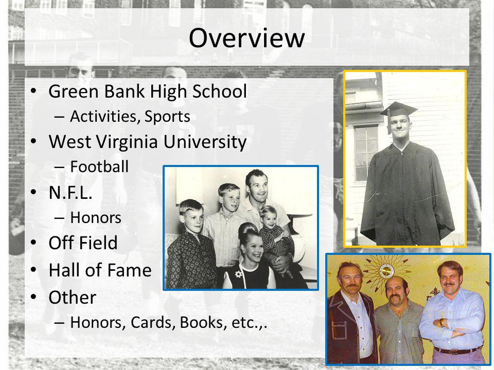 Overview Green Bank High School West Virginia University N.F.L.
