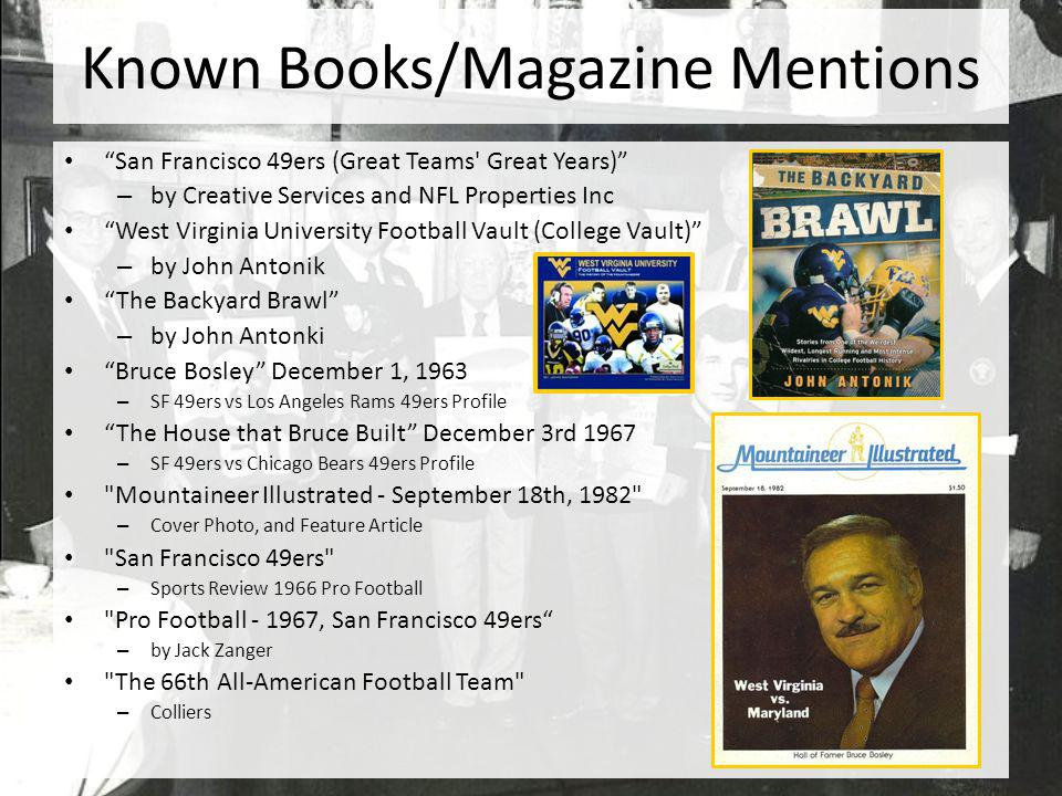 Known Books/Magazine Mentions