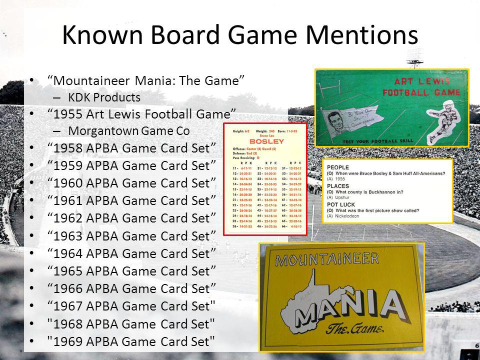 Known Board Game Mentions