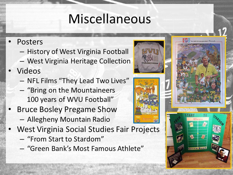 Miscellaneous Posters Videos Bruce Bosley Pregame Show