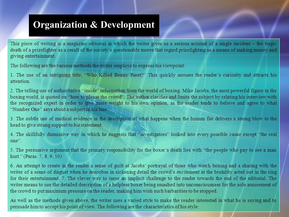 Organization & Development
