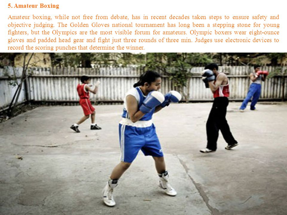 5. Amateur Boxing