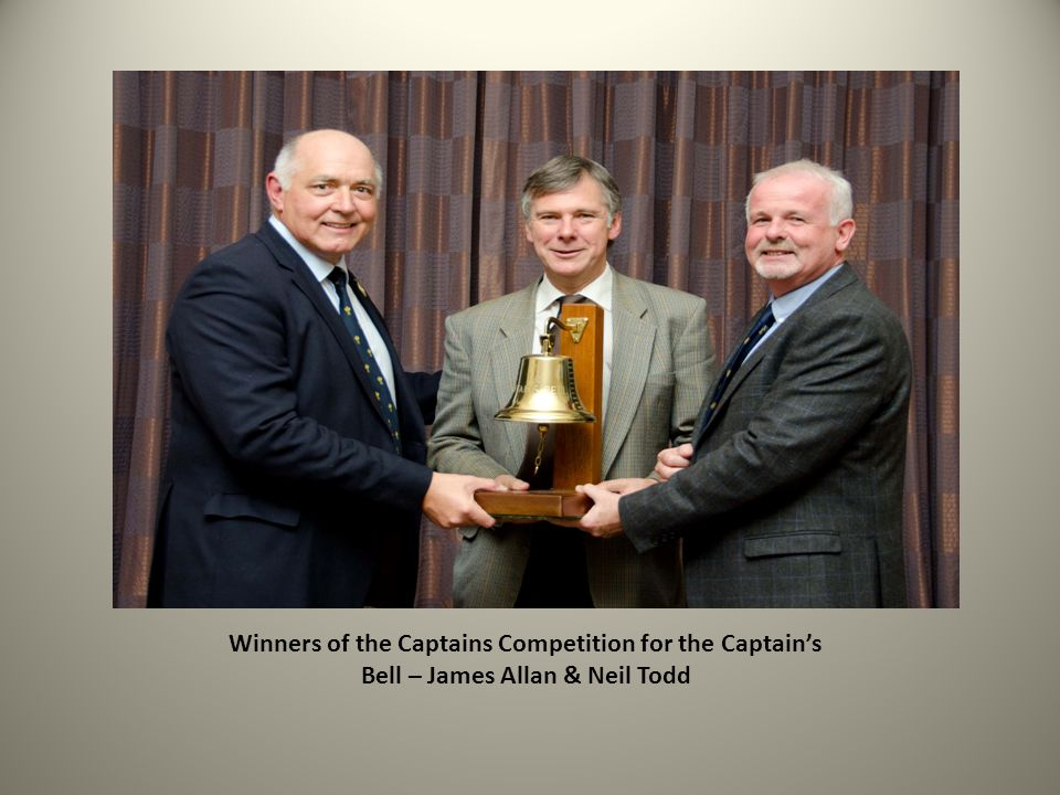 Winners of the Captains Competition for the Captain's Bell – James Allan & Neil Todd