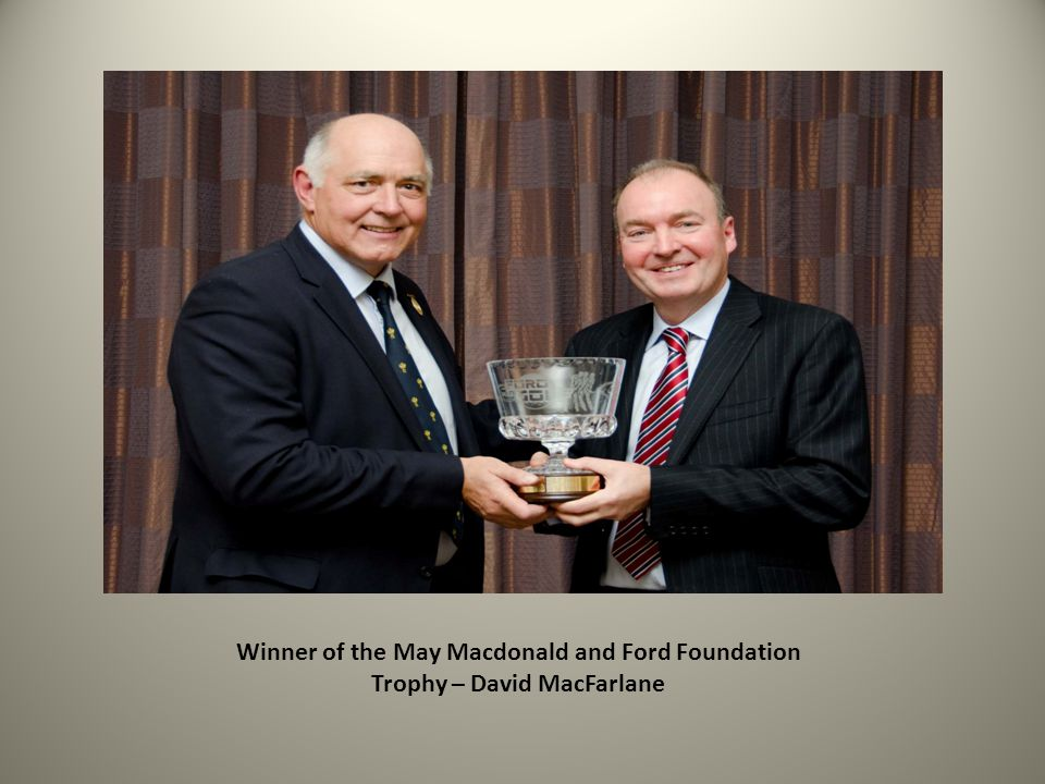 Winner of the May Macdonald and Ford Foundation Trophy – David MacFarlane