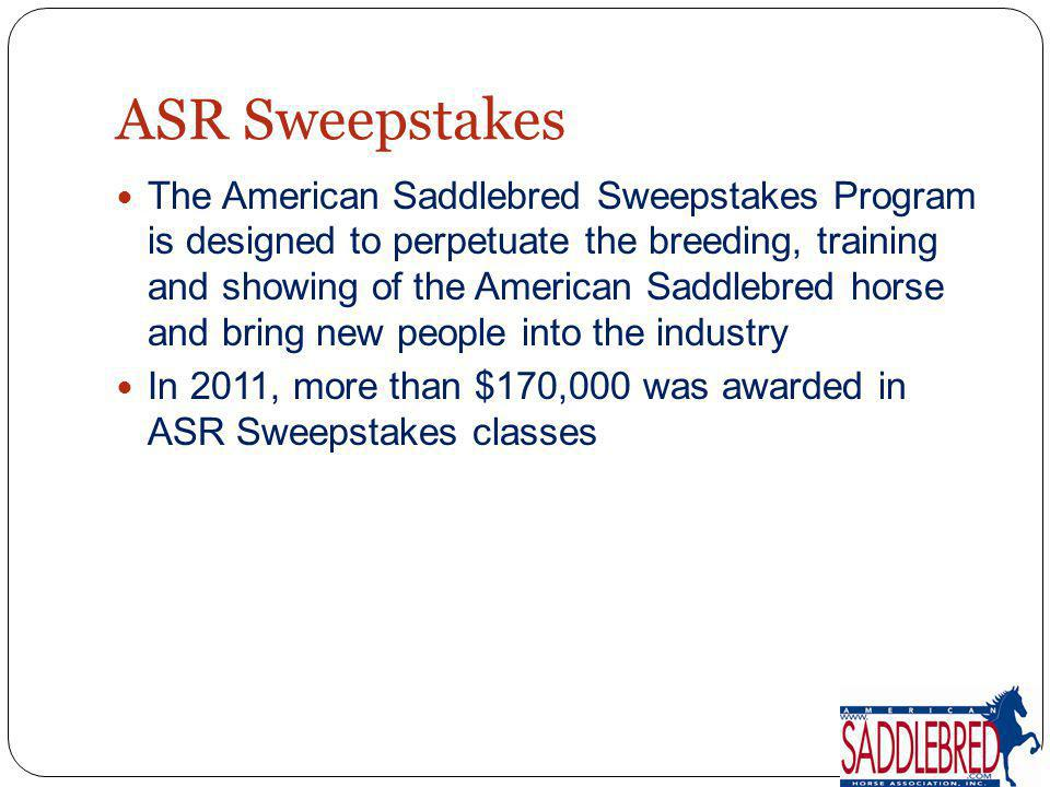 ASR Sweepstakes